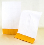 Decorative White Hand Towels With Tangerine Border (2) **CLEARANCE**