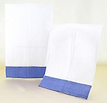 Decorative White Hand Towels With Lavender Border (2) **CLEARANCE**