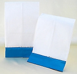 Decorative White Hand Towels With Electric Blue Satin Border (2)