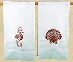 Embroidered Hand Towels-Under the Sea, Set of 2