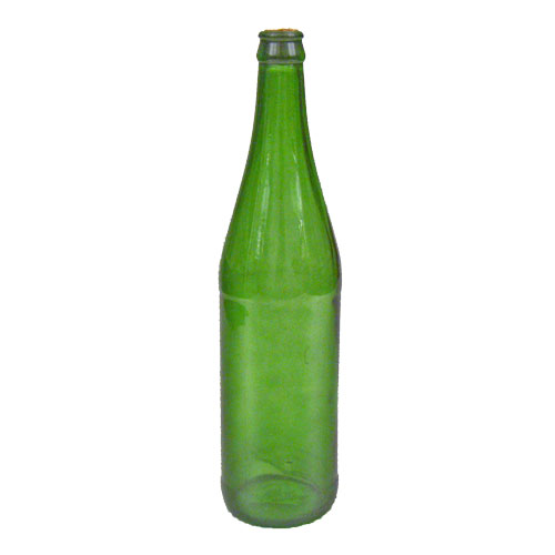 Colored glass wine bottle with cork green blue orange for Colored bottles for decorations