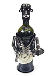 Polished Metal Sommelier Wine Caddy Decoration