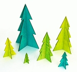 Evergreen Tree Wood Cutout - Spring Green