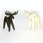 Alpine Moose Wood Cutout - Natural