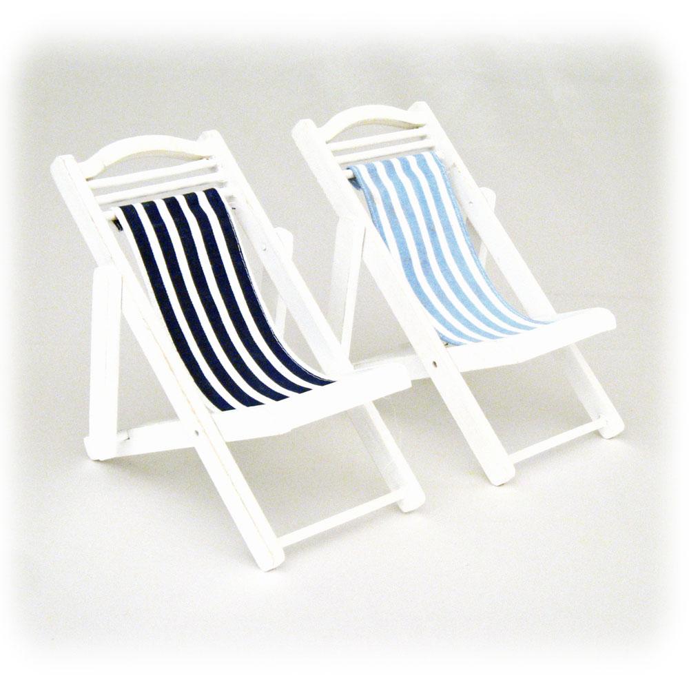 """Mini 6 5"""" Wood & Canvas Folding Deck Beach Chair"""