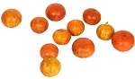 Bag of Decorative Mini Striped Orange Gourds (12)