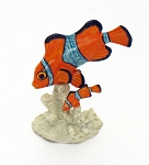 Clown Fish & Baby On Coral - 3.5""