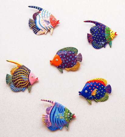 Whimsical Tropical Fish Wall Decor | Under the Sea Party Decorations