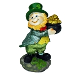 Glittered Leprechaun With a Pot of Gold
