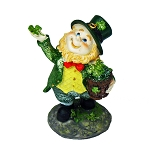 Glittered Leprechaun With a Pot of Shamrocks