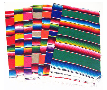 Decorating With Fiestaware Mini Mexican Serape Runner Fiesta Decor Supplies