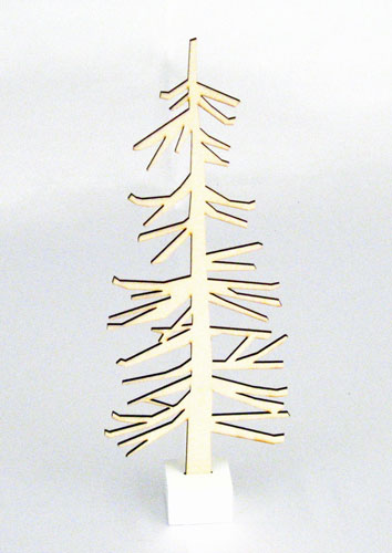 Nordic Tree Wood Cutout With Base Christmas Decorations