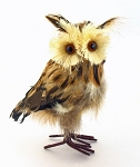 "5"" Brown Feathered Owl"