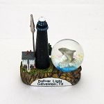 "4"" Galveston Lighthouse & Waterball Cardholder"