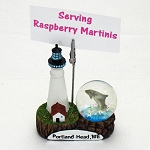 "4"" Portland Head Lighthouse & Waterball Cardholder"