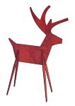 Red Reindeer Wood Cutout