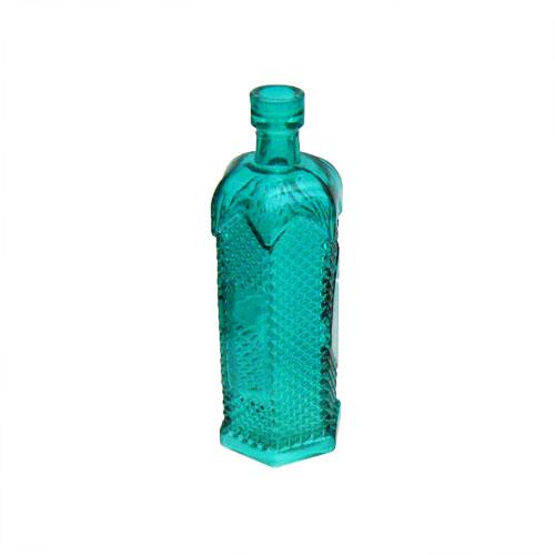 6 5 vintage style colored glass bottle bud vase spring for Colored bottles for decorations