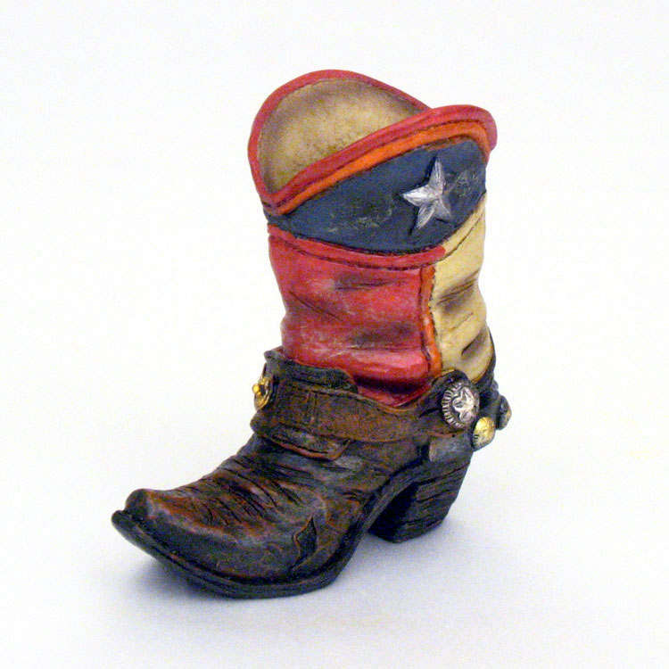 4 Quot Lone Star Flag Cowboy Boot Mini Vase Texas And Country Western Theme Party Decorations