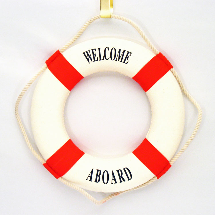 Welcome Aboard Life Ring Nautical Theme Party Decorations