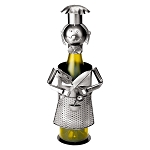 Metal Iron Chef Wine Caddy Decoration