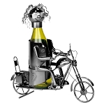 Metal Motorcycle Wine Caddy Decoration