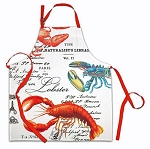 19th Century Parisian Style Lobster Print Apron
