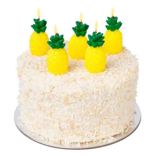Pineapple Cake Candles Birthday Tropical Amp Hawaiian