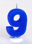 Digit Birthday Candles - Nine - 9