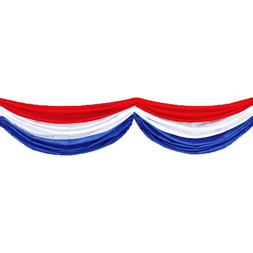 Red white amp blue fabric bunting 4th of july patriotic party