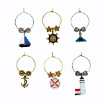 Distinctive Nautical Themed Wine Charms (6)
