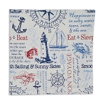 Maritime Printed Cloth Napkin