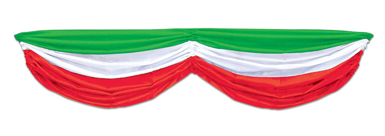 Red White Green Fabric Bunting Swags Italian Mexican