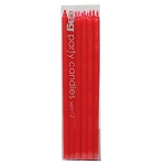 "6"" Red Mini Taper Birthday Party Candles (12)"