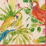 Artistic Parrots Napkins - 2 sizes