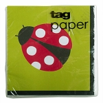 Contemporary Ladybug Beverage Napkins (20) **CLEARANCE**