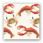19th Century Parisian Lobster & Crab Beverage Napkins (20)