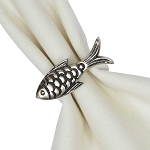 Nickel-Plated Fish Napkin Ring