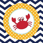 Ahoy Matey! Nautical Crab Beverage Napkins (18)