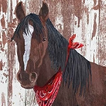 Bay and Bandana Horse Beverage Napkins (20)