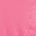 Candy Pink Paper Napkins (50) - 2 sizes
