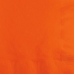 Sunkissed Orange Paper Napkins (50) - 2 sizes