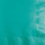 Teal Lagoon Paper Napkins (50) - 2 sizes
