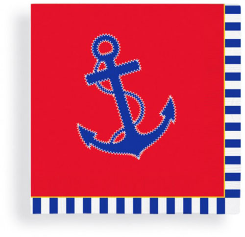 red  white  u0026 blue anchor beverage napkins