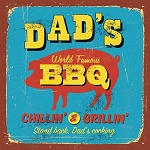 Dad's World Famous BBQ Beverage Napkins (20)