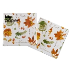 Fall Flora Watercolor Beverage Napkins
