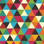 Colorful Kraft Geometric Triangles Beverage Napkins (16)