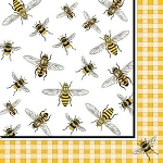 Honey Bees Napkins - 2 sizes