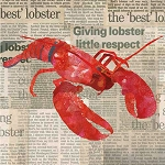 Lobster In The News Beverage Napkins (20)