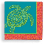 Coastal Color Sea Turtle Beverage Napkins (24)