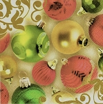 Christmas Tree Ornaments Luncheon Napkins